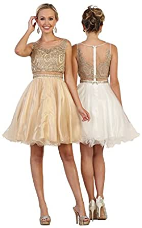 May Queen by Formal Dress Shops Inc FDS1462 Two Piece Semi