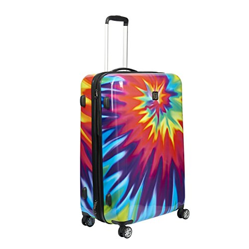 ful Luggage Swirl 28 Inch Expandable Spinner Rolling Luggage Suitcase, Hard Case, Tie-Dye