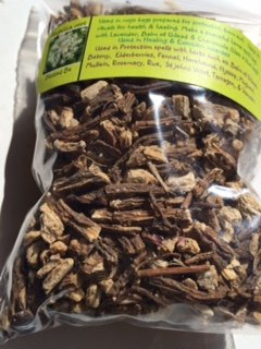Herbs: Angelica Root ~ Dried Bitters herb ~ Organic ~ 1 oz Ravenz Roost Herbs with Special info on label