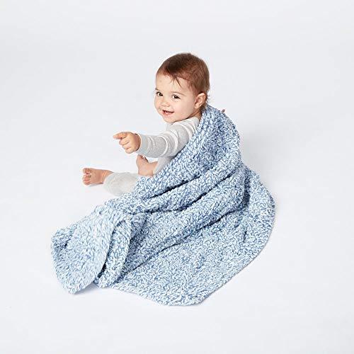 Bernat Baby Blanket Yarn - (6) Super Bulky Gauge - 10.5 oz - Blue Dreams - Single Ball Machine Wash & Dry (16110404134) (2-Pack) by Bernat (Image #3)