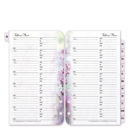 Cheap Pocket Floral Blooms Address/Phone Tabs free shipping