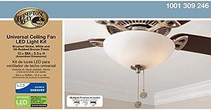 Amazon Com Hampton Bay Universal Ceiling Fan Led Light Kit Kitchen Dining