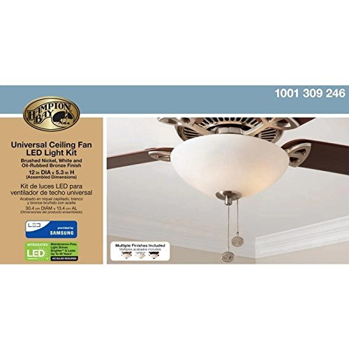 Hampton bay universal ceiling fan led light kit amazon aloadofball Choice Image
