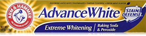 Hammer Advance White Toothpaste - ARM & HAMMER Advance White Extreme Whitening Toothpaste, 6 oz (Pack of 4)