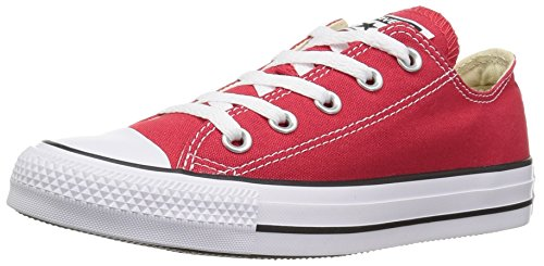 Converse Kid's Chuck Taylor All Star Low Top Shoe, red, 9 M US Toddler