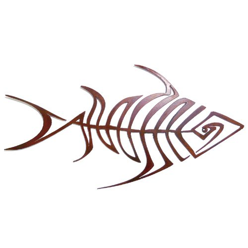 Bonefish Rusty Metal Wall Sculpture for Outdoors, 23''