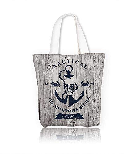 Canvas Tote Handbag t-shirt design Men And Women Shopping Tote W23xH14xD7 INCH
