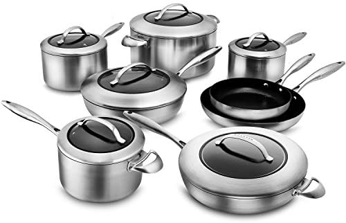 Scanpan CTX 14-piece Stainless Steel Cookware Set with Stratanium Nonstick Coating