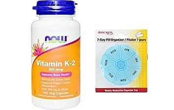 AHORA vitamina K-2 100 mcg, 100 cápsulas de Veg
