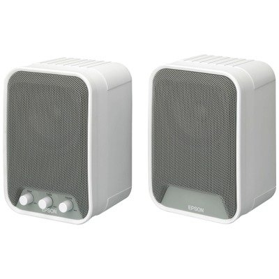 Epson ELPSP02 2.0 Speaker System - 30 W RMS - White by Epson (Image #1)