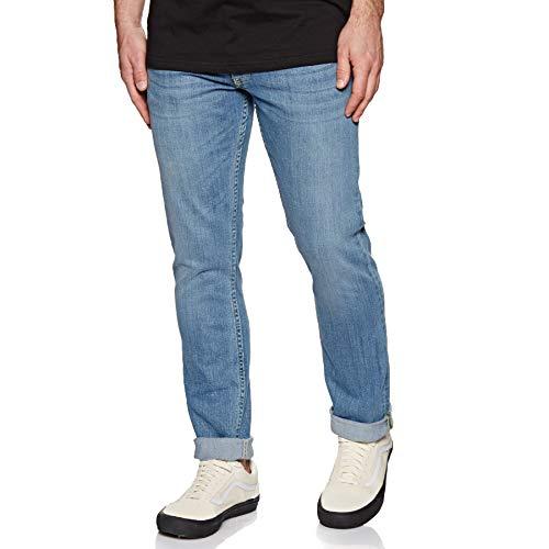 Straight Dc Jeans Leg - DC Light Indigo Bleach Worker Straight Stretch Jeans (32