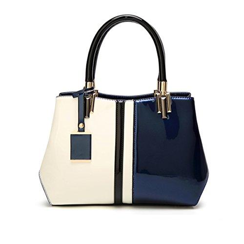 Cuir Verni En De Mode Bag Messenger Sac À Main Bleu Sacs TqqIrZH