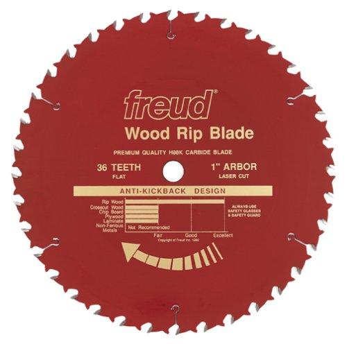 - Freud LM72R018 Heavy Duty Industrial Ripping Saw Blade 18-Inch x 36t Flat Top 1 Inch Arbor Coated