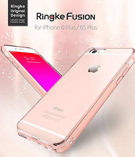 Ringke Fusion Compatible with iPhone 6S Plus Case, Crystal Clear PC Back TPU Bumper Drop Protection, - http://coolthings.us