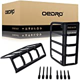 oEdRo Rear Tail Light Guards Cover Compatible for 2007-2018 Jeep Wrangler JK Unlimited JK Taillights Brake Light Black Protector - Pair