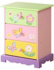 WODENY Children Vanity Table Set   Dressing Table Kids Dresser and Chair & Stool Beauty Sets Fashion Makeup Accessories Mirror with Drawer Wooden for Girls Pink