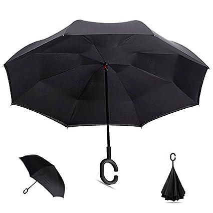 Inversa – Juego de 6 – paraguas Club diámetro 106 cm, colores surtidos – Calidad