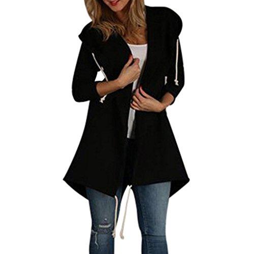 Women Blouse Among Autumn Hooded Coat Casual Long Sleeve Knee-Length Jacket Windbreaker Cardigan Outwear Top (M, (North Face Bamboo)