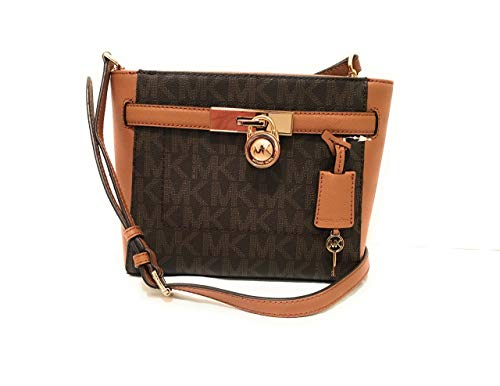 Michael Kors Hamilton Leather Traveler Messenger Brown PVC