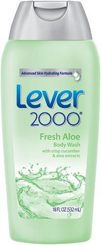 Lever 2000 Body Wash, Fresh Aloe, 18-Ounce Bottles (Pack of 6) by Lever 2000