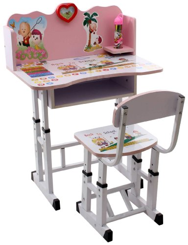 Buy Fab N Funky Study Table With Chair Set - Pink (Pink) Online at ...