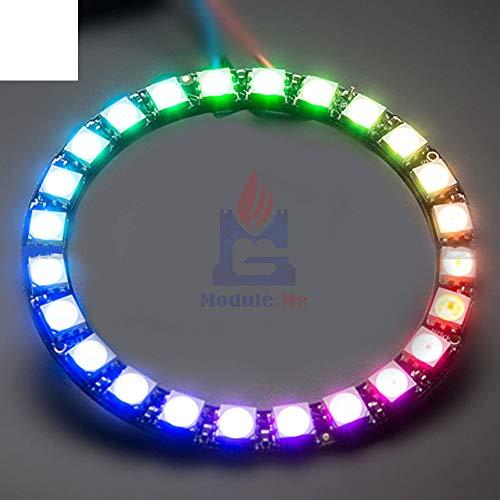 WS2812B モジュールストリップ 24 ビット 24 × WS2812 5050 RGB LED リングランプのための統合されたドライバ RGB 24 arduino