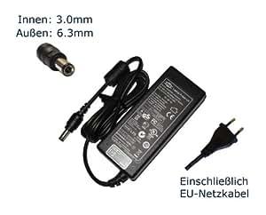 """'Fuente de alimentación para Toshiba Tecra A8PTA83E de 05202qgr A8PTA83E de 08r03rgr A8PTA83E de 0d003rgr A8PTA83E de 0e703rgr A8de ez8311portátil cargador, todos los modelos Charger, adaptador CA, fuente de alimentación compatible de repuesto (12meses de garantía, incluye cable de alimentación europeo)–""""Laptop Power con enchufe europeo"""