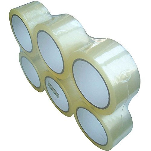 Mammon Packaging Shipping Heavy Duty Packing Tape Clear 100 Yards 6 Refill Rolls