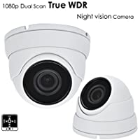 AED 1080P TVI/AHD/CVI/Analog 1/2.8 CMOS SENSOR TRUE WDR, 4 in 1 SMD IR DOME CAMERA WITH 3MP 2.8MM-12MM MOTORIZED PREMIUM LENS AND TINTED GLASS