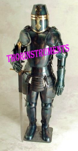 THORINSTRUMENTS (with device) Medieval Blue Knight Wearable Suit of Armor By Thor Instruments Co. ()
