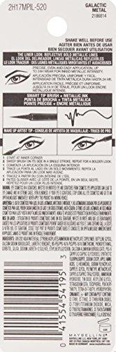 Maybelline New York Master Precise Ink Metallic Liquid Liner, Galactic Metal, 0.06 Fluid Ounce