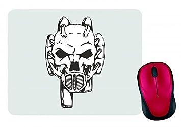 """Alfombrilla de ratón """"Equipo de bomberos cráneo Gas Máscara Esqueleto Rocker Moto Club"""
