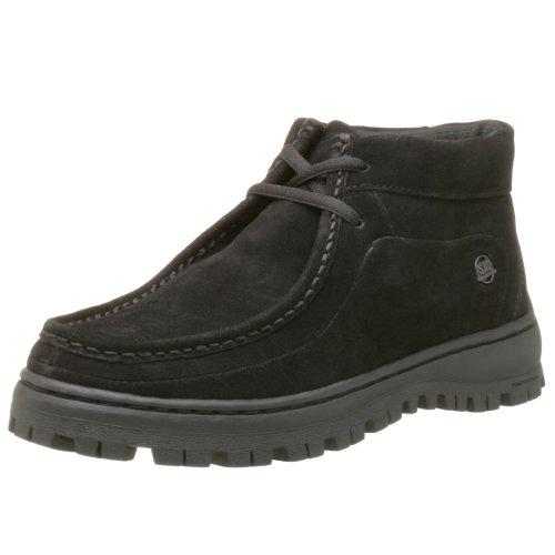 Stacy Adams Dublin II Moc Toe Boot - Black Suede 10 M, Black