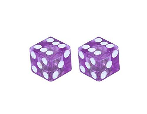 Alta Dice Schrader Valve Caps, Multiple Colors (Clear Purple)]()