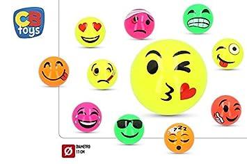 2cb98c5636 Lote de 42 Pelotas de PVC 11 cm con Divertidas Caras Emojis, Emoticonos -  (Se Sirven Hinchados).