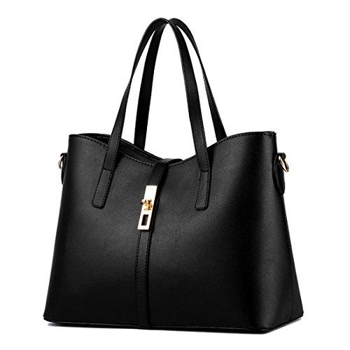 YYWLarge Tote Bag - Bolso de mano grande Mujer negro
