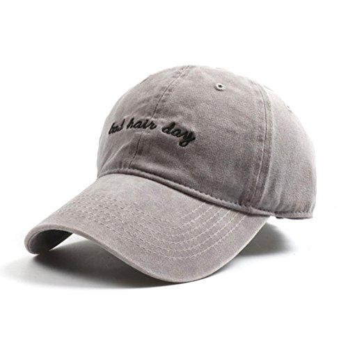 - Upsmile Denim Baseball Cap Hat Adjutable Plain Cap For Women With Bad Hair Day Printing