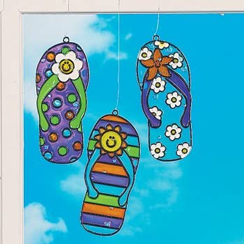 Flip flop sun catchers crafts for kids for Amazon arts and crafts for kids