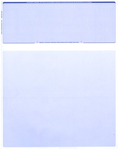 - 250 Computer Check Paper -Blank Stock Check Paper - Check on Top Blue Pinstripe
