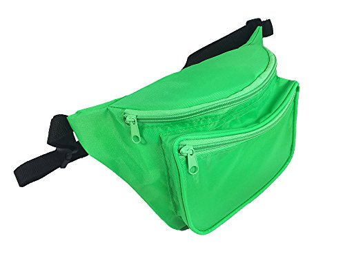 Rave Fanny Pack In Day Glow Colors, Black Light Reactive (Neon Green)]()