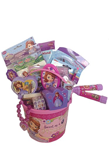 Disney Princess Sofia The First Bucket of Fun Set Perfect for Easter Basket, Birthday Gift, or any other Special Occassion Disney Easter Baskets