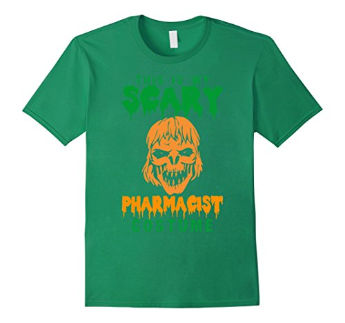 This Is My Scary Pharmacist Costume Halloween T-Shirt - Male Medium - Kelly (Pharmacist Costume Halloween)