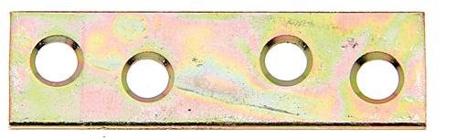 acier galvanis/ée bichromat/ée Platine dassemblage 50 x 14 mm // 12 pcs