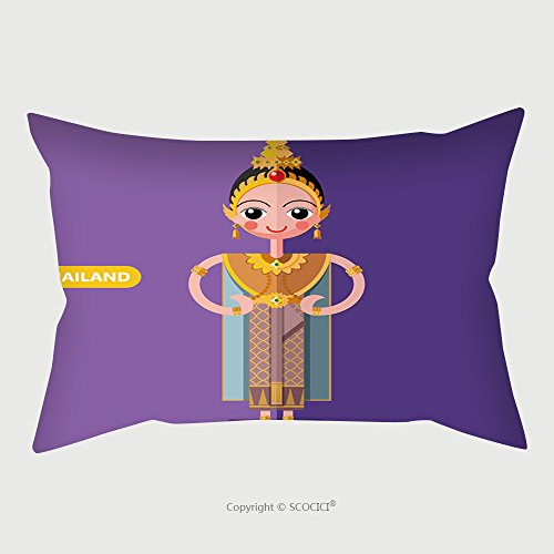 Charlie Supernatural Costume - Custom Microfiber Pillowcase Protector Thailand National Costumes In Flat Style 465805451 Pillow Case Covers Decorative