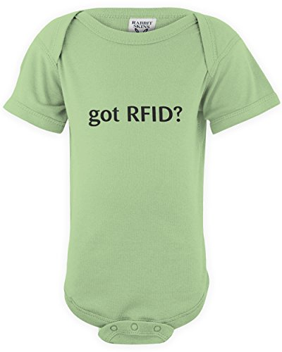 shirtloco Baby Got RFID Infant Bodysuit, Key Lime Newborn (Barcode Key Tags)