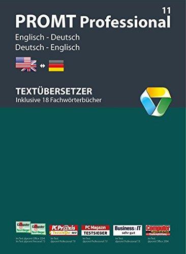 PROMT Professional 11 Englisch-Deutsch: Von Fachmedien ausgezeichnetes Übersetzungsprogramm Englisch <-> Deutsch für den anspruchsvollen Anwender. Mit 1.150.000 Wörtern und Wendungen, 18 Fachwörterbüchern, Eigene Wörterbücher, Translation Memory, Glossar-Import, Microsoft® Office Integration