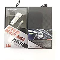 Tomada Car Charger 2 USB Strong Zinc Alloy 3.6A iPhone HM302, H Maston, 37852285, Não