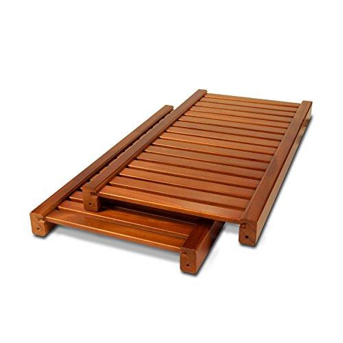 John Louis Woodcrest Caramel Finish Adjustable 12-Inch Shelf Kit (Pack of 2) - Maple Shelf Kit