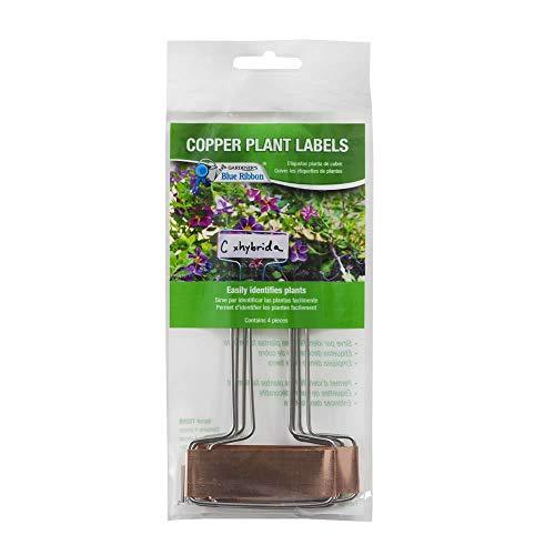 Gardener's Blue Ribbon T026B Copper Plant Labels (4 Pack), 6