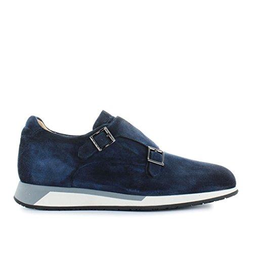 Santoni Men's Mbnv20744gbnmjodu60 Blue Suede Sneakers